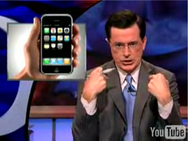 Colbert and the iPhone